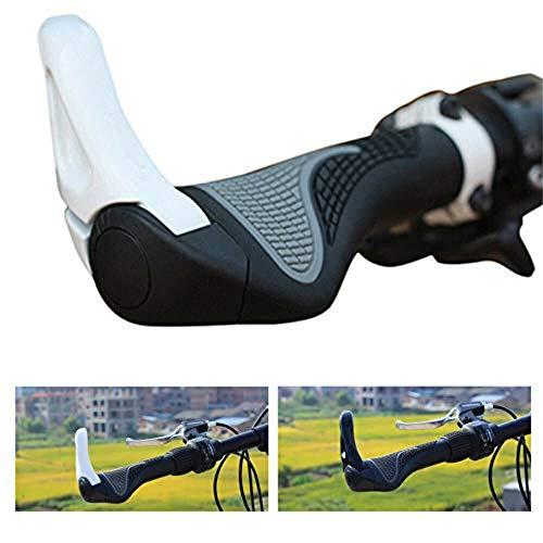 DIYARTS 1 par de biciletas de manillar de extremo de barra de bicicleta Bicicleta de montaña MTB para la mayoría de las bicicletas (Blanco)