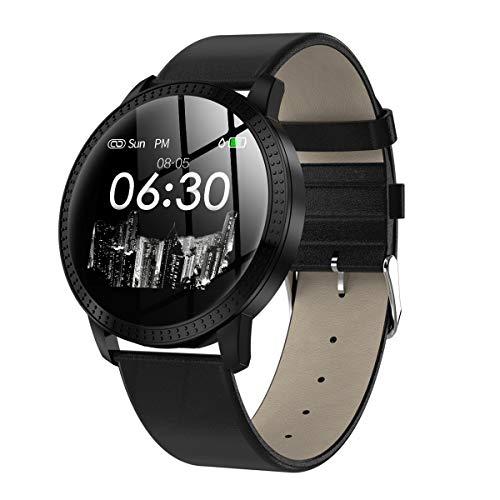 MUXAN Bluetooth Smartwatch Fitness Uhr Intelligente Armbanduhr Fitness Tracker Smart Watch Sport Uhr IP67 Farbbildschirm Wasserdicht Damen Herren Uhr für IOS/Android (Black)
