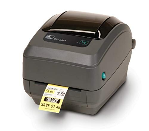 Zebra GK420t (USB/Ethernet), 203 dpi Direct Thermisch/Thermische Transfer Barcode Label Printer, Euro en UK netsnoer, EPL, ZPLII, USB, Ethernet