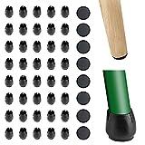 Valschen 40pcs Stuhlbeinkappen Stuhlbeinschutz Gummi Stuhlsocken Pads Stühle Fuß Protektoren mit 8pcs aufklebe Möbelstopper Runde Eva-Pads(25mm) für 12-16mm Runde Beine