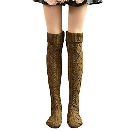 Anaike - Calcetines altos para mujer, para invierno, cálido, para botas altas