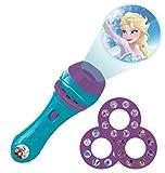 Lexibook Disney, Frozen-Linterna de bolsillo con proyector 3 discos y 24 imágenes LTC050FZ, color
