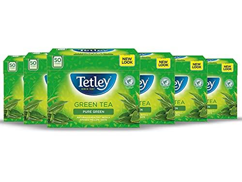 Tetley Pure Green Tea Bags, Pack of 6, 5000 gram