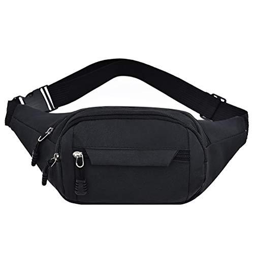 kuou Bumbag Waist Bag,Waterproof 4 Zip Pockets Fanny Pack Running Waist...
