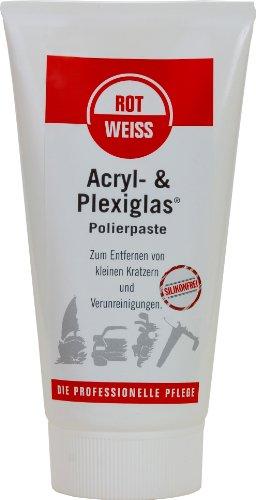 Rotweiss 1 Stück Acryl & Plexiglas Polierpaste 150ml Auto Scheinwerfer Politur