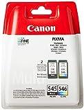 Canon PG-545+CL-546 Multipack tinta Negro y Tricolor Impresora Inyeccion tinta PiXMA MG2150-2155-2250-2255-3150/55-3250/55-3550-3650-3650S-4150-4250-MX375-395-435-455-475-515-525-535S-TS5150-5151