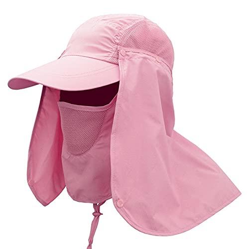 Sombreros para El Sol para Hombres Y Mujeres, Verano, Cubierta Al Aire Libre, Cara, Protección UV, Sombrilla para Mujer, Sombrero De Pesca, Sombrero De Pescador, Rosa