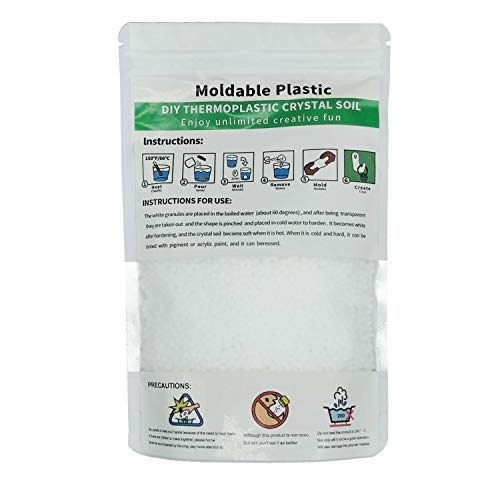 VWMYQ Moldable Plastic 15oz Thermoplastic Free Resin Becomes Soft When Heated and Hardened When Cold for DYI Crafts CosplayRepairs etc
