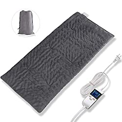 LCD Digital Display Auto-Off XL King Size Super Soft Moist Heating Pad Back Pain and Cramps Fast Relief 8 Heat Levels