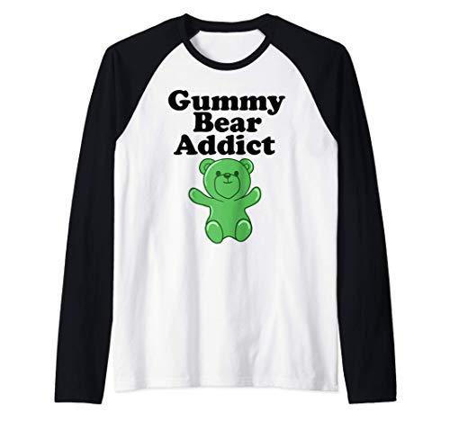 Gummy Bear Addict funny Gummy Bear Lover Camiseta Manga Raglan
