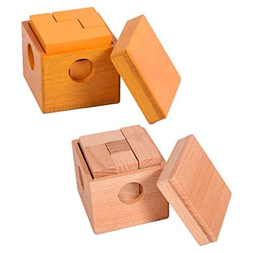 SimpleLife Toys of Magic Cube Puzzle-7 Boxed Cube Soma Cubes Puzzle Puzzle de matemáticas para niños y Adultos
