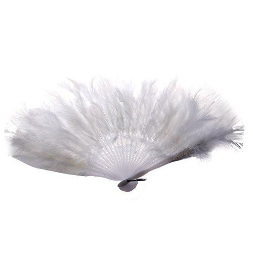 TOOGOO(R) Donna ventaglio della piuma 1920 MOULIN ROUGE BURLESQUE Costume ACCESSORIO - Bianco