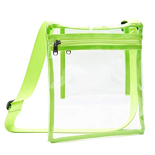 【Quality TPU Material】Our clear bags are made from TPU material which is vastly superior to PVC. TPU has no odd smell and totally environmentally friendly compared with PVC. Our TPU clear bag is more flexible and durable than other clear bags. The ba...