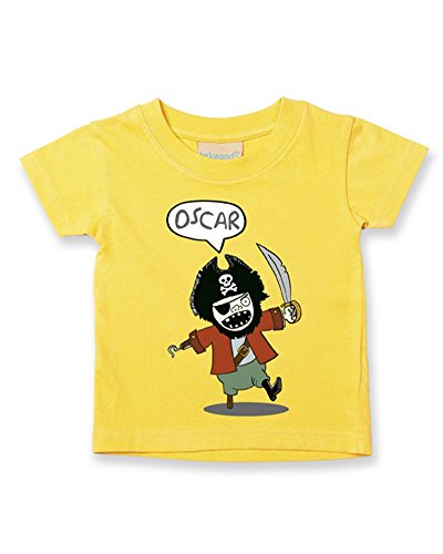 Ice-Tees T-shirt personnalisé pour bébé/enfant Motif pirate - Jaune - 2-3 ans