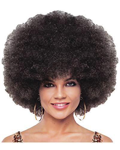 Luxe Jumbo Afro Pruik Bruin
