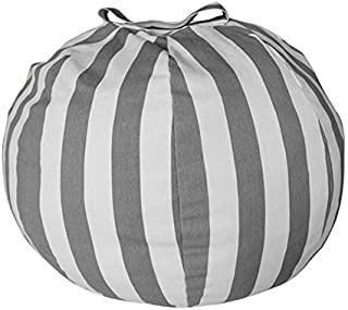 Lynn025Keats Creative Stuffed Plush Toys 55CM 80CM Stripe Waterproof Storage Bean Bag