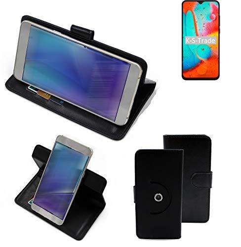 K-S-Trade Handy Hülle Für Coolpad 26 Tibetan Peak Edition Flipcase Smartphone Cover Handy Schutz Bookstyle Schwarz (1x)
