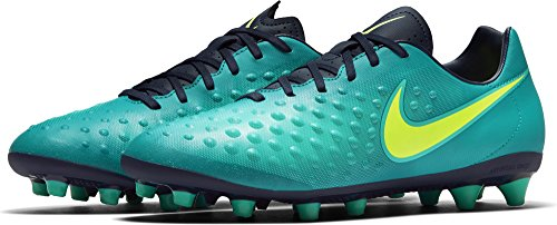 Nike 844419-375 Scarpe da Calcio, Blu Foglia di tè Giallo Fluo Ossidiana Giada Chiaro Azul Rio Teal Volt Obsidian Clear Jade, 45.5 EU Uomo