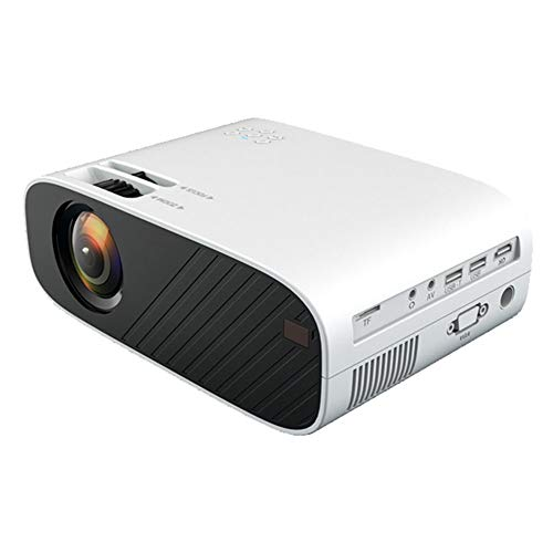FENGCLOCK Bluetooth Mini Projector, Upgraded Native 1080P And 300' Display,18800 Lux Video Projector,Support 4K, Home Theater Projector Compatible with Phone/TV Stick/PC/USB/PS4,White,AI Android