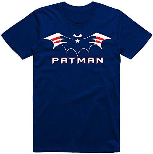 New England Football Fans Bat Logo Patman Classic T Shirt Size 3XL product image