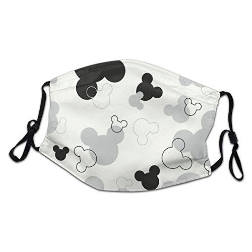 Sonickingmall Kinder-Micky-Maus-Silhouette, Gesichtsmaske, Mundschutz, wiederverwendbar, Halstuch, Sturmhaube für Staub, Wind und Wetter