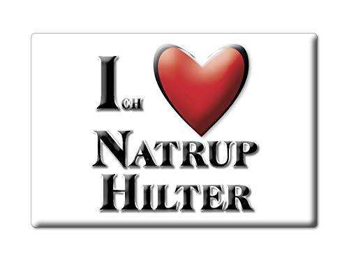 Enjoymagnets NATRUP HILTER (NI) Souvenir Deutschland Niedersachsen Fridge Magnet KÜHLSCHRANK Magnet ICH Liebe I Love