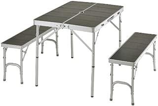 BUNDOK(バンドック) テーブル & ベンチ セット BD-144BK レジャー チェア アルミ 軽量 コンパクト【3~4人用】