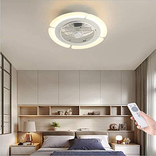 Lámpara LED de techo con iluminación creativa y moderna para habitación de los niños, dormitorio, ventilador, lámpara de techo, oficina, restaurante, salón, iluminación decorativa, 62 cm - 56 cm