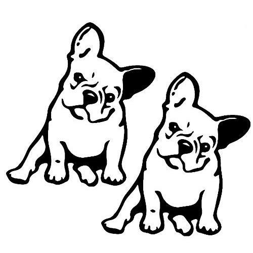 2pcs French Bulldog Dog/Pet Vinyl Decal Car Window Wall Sticke Sticker Decal Vinyl Car Window Wall Sticker Laptop Decal Cute Funny Peep Animal Decorative Stickers (Bulldog)