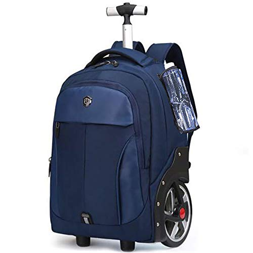 WOTR Waterproof Wheeled Laptop Backpack for Travel, 18/20' Large Travel Rolling Backpack,Ideal for Vacation, Travel, Weekend Getaway, Business Trip, Overnight Trip,Blue,18 inch