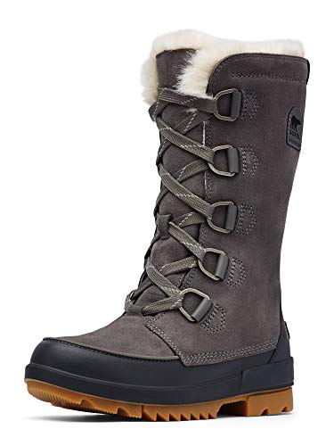 Sorel - Women's Tivoli IV Tall Waterproof Insulated Winter Boot with Faux Fur Collar, Quarry, 6 M US