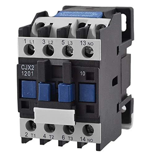 Contactor de corriente alterna CJX2-1201 220V 50/60 HZ 3 polos normalmente cerrado