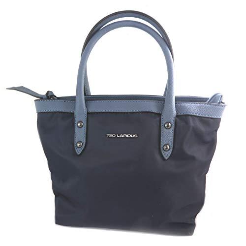 Ted Lapidus [Q2209 - Bolsa creativa azul marino - 23x20x7 cm.