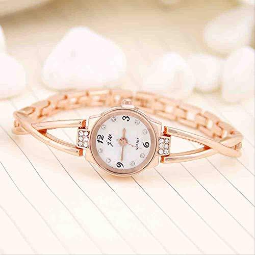 DSNGZ Reloj de Pulsera Reloj de Mujer de Moda Taladro de Agua para Mujer Reloj de Pulsera de Moda Vintage Reloj de Oro Rosa