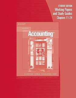 Student Edition Working Papers and Study Guide for Chapters 11-24 for Century 21 Accounting: Advanced, 8th Edition