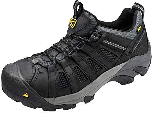 KEEN Utility Men's Flint Low Steel Toe Work Shoe, Black/Dark...
