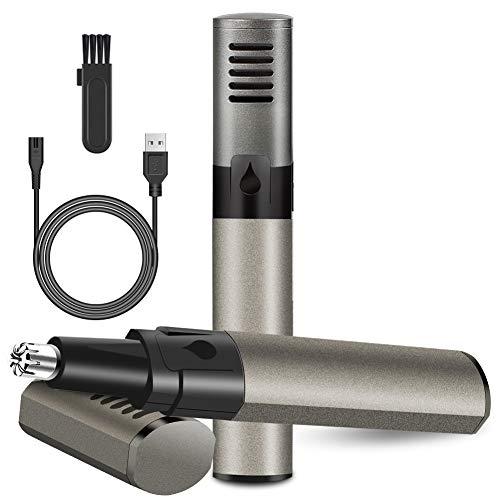 Rifinitore Naso,USB Ricaricabile Rifinitore Naso e Orecchie,Multifunzione Rifinitore Naso Orecchie per Barba, Orecchie e Sopracciglia Cura della Persona