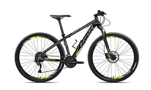 Tecnobike NSR X.PRO Hardtail 29' Aluminio High Performance - All Around MTB - Shimano 27 Speed - Antracita/Lima - Small Frame Size
