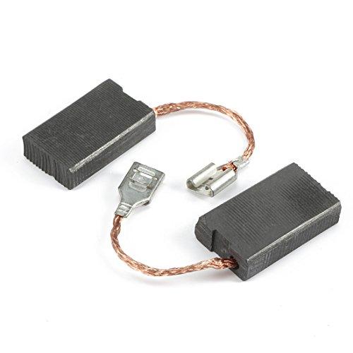 sourcingmap® Escobillas de carbón par parte de repuesto herramienta eléctrica de 6,2 mm x 16mm x 26mm
