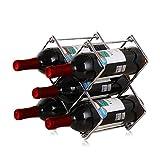 Cabina Home - Botellero de metal, 6 botellas, apilable,...
