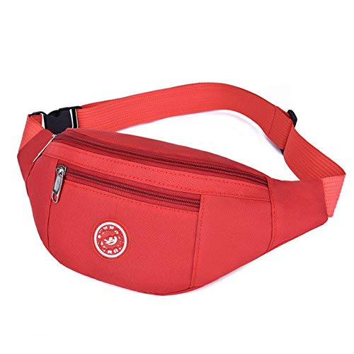 fanny pack bag waist bag  men's purse women's belt bag banana Women's belt bags - red