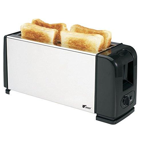 Tostador de 4 rebanadas 1300W, 7 niveles de tostado y laterales de acero inoxidable. THULOS TH-TV200.