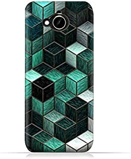 HTC Desire 10 Compact TPU Silicone Protective Case with cubes Design