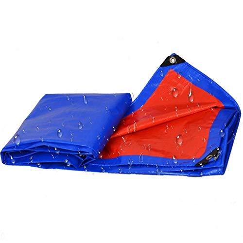 Nologo Azul Multiuso Impermeable Poli Tarp Cubierta con Abrigo de la Tienda Que acampa Lona Anti-Shrink, Anti-UV, antioxidante for Tienda de campaña BTZHY (Size : 20ft*20ft)