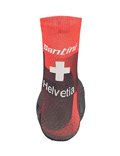 Santini Tour De Suisse-Cross 2019 Unisex-Erwachsene Handschuhe M Mehrfarbig