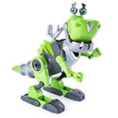 Buildable figure: easy-to-build designs make it simple for kids to build the Rusty Rivets Botasaur. Combine it and design it, just like Rusty and Ruby! Lights and sounds: press the button on the back of the Botasaur's head and his eyes Will light up ...