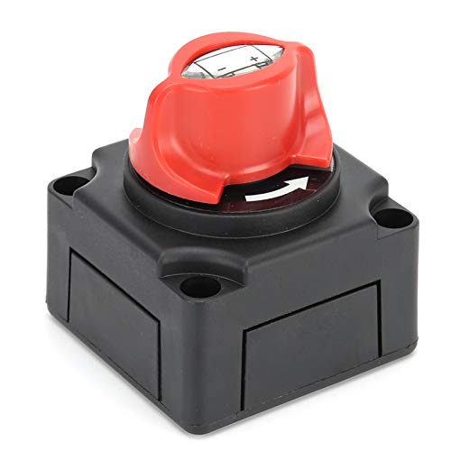 Interruptor de 12 V, cubierta trasera extraíble 1000 A, 12 V/24 V, interruptor de apagado de batería, terminales de latón estañado de cobre, interruptor intermitente marino para yates automóviles