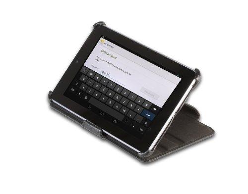 StilGut UltraSlim Case V2 Tasche mit Standfunktion kompatibel mit Google Asus Nexus 7 (8 und 16GB), schwarz