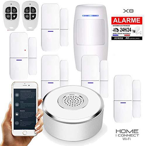 classement un comparer Home i Connect – Alarme de maison sans fil – WLAN – 1 Sirène – 5 Portes – 1…