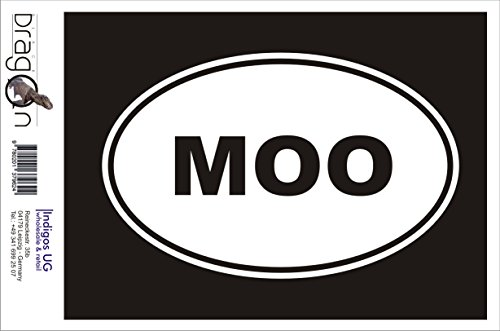 INDIGOS UG Aufkleber Autoaufkleber - JDM Die Cut Auto OEM - MOO Sticker Cow Farm Animal Love Funny 180x120mm pink - Auto Laptop Tuning Sticker Heckscheibe LKW Boot